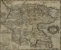 Greece Peloponnese Corinthia Morea Achaia Accadia 1694 Mosting map