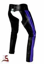 Real Cowhide men's chaps hot style attracting gay pant Motor biker leather chaps