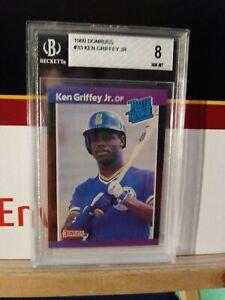 1989 Donruss Ken Griffey Jr. Rated Rookie RC #33 Beckett 8 Seattle Mariners HOF