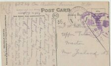 WW1 English postcard New Zealand 1917 Army Post censored to New Zealand