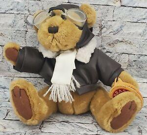 "PICKFORD BEARS Radar Teddy Stuffed Animal Vintage Aviator Pilot 8"" PLUSH TOY"