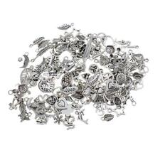 Lot 50g Assorted Alloy Pendants Charms for Jewelry Making Craft DIY Necklace