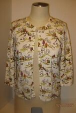 Women's  Christopher & Banks Top  Open Front One Button 3/4 Sleeve Size S NWT