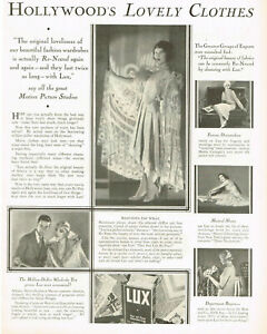 1920s BIG Original Vintage Lux Fay Wray Womens Fashion Photo Print Ad
