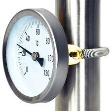 Anlegethermometer Thermometer auf Rohr Rohrthermometer 120°C Heizung Feder Ø63mm