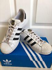 Unisex Adidas Originals Superstar White/Black Trainers Size UK 7