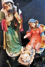 Kirkland Signature Festive Large Hand Painted Christmas Nativity Set - 4 Pieces