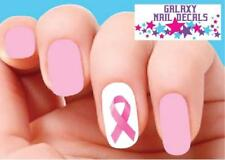 Waterslide Nail Decals - Set of 20 Pink Breast Cancer Awareness Ribbon