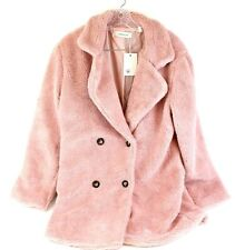 Lomatise LT-5035 Pink Faux Fur  Women's Fuzzy Coat LARGE