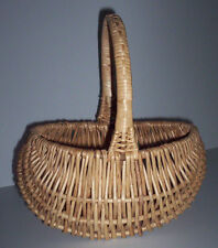 Collection of Five Natural Baskets with Handles