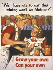 WAR PROPAGANDA WW2 GROW YOUR OWN FOOD USA VINTAGE ART ADVERTISING POSTER 2742PY