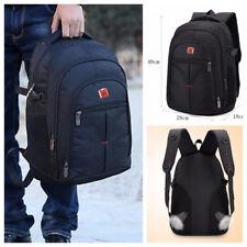 Mens Large Backpack Black Rucksack Sport Travel Hiking School Bags Waterproof