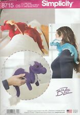 Simplicity Sewing Pattern 8715 BeeZee Art - Softie Toy Stuffed Dragons