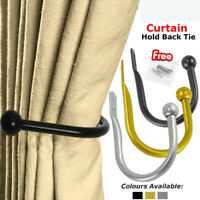 Large Stylish Curtain Hold Back Metal Tie Tassel Arm Hook Loop Holder Ball  End