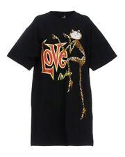 Love Moschino  Women's Black Catz Print Sweat Dress size UK8/40/S RRP£240