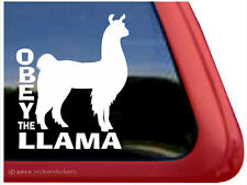 OBEY THE LLAMA - High Quality NickerStickers Vinyl Auto Window Decal Sticker