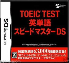 Used DS Toeic Test: Eitango Speed Master NINTENDO JAPANESE IMPORT