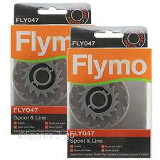 2 x FLYMO Strimmer Spool & Line Garden Trimmer Sabre Trim FLY047 Genuine Spare