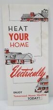 Vintage Nsp Heat Your Home Electrically Electric Home Heating Brochure Wisconsin