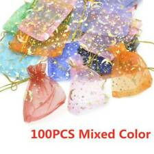 100X Star Moon Organza Wedding Party Favor Bags Decor Jewelry Candy Gift Pouches