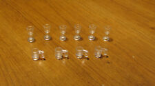 LEGO  LOT  OF  10  TRANS  CLEAR  MUG  CHALICE CUP GOBLET