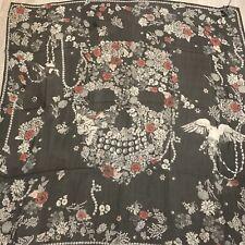 Alexander Mcqueen Pearl Skull Scarf 138 x138