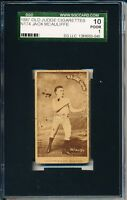 1887 N174 Jack McAuliffe boxing card!  SEE MY OTHER BOXING! SGC 10 = PSA 1