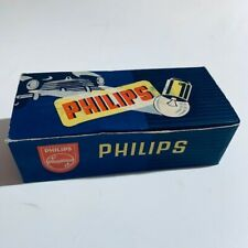 vintage box of philips 6821 light bulb replacement genuine vintage 60s -  6v 5w