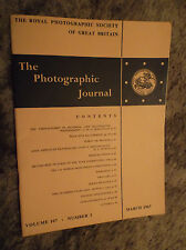 The Photographic Journal Vol 107 No 3 March 1967