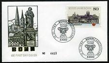FDC rfa de 1989 mi-Nº 1402: 2000 ans Bonn