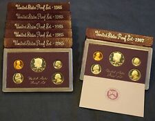 US Proof Set Lot - 1985 (x5) & 1987 United States Proof Sets - Free Shipping USA