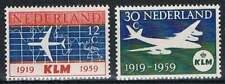 Nederland Postfris 1959 MNH 729-730 - KLM 40 Jaar