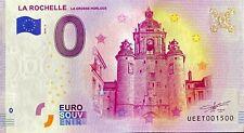 BILLET 0  EURO LA ROCHELLE GROSSE HORLOGE  2018 NUMERO 1500
