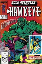 Solo Avengers Hawkeye Comic Issue 12 Copper Age First Print Defalco Bright 1988