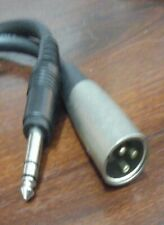 """Standard microphone cable, 10-ft w 1/4"""" phone plug (another is available)"""