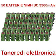 BATTERIA RICARICABILE NI-MH SC 1,2V 3300mAh CON LAMELLE A SALDARE x50