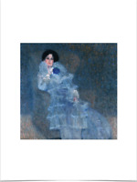GUSTAV KLIMT MARIE HENNEBERG LIMITED EDITION BIG BORDERS ART PRINT 18X24 blue