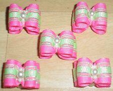 Pretty Pink mostra tipo Toelettatura Fiocchi Perline Centro