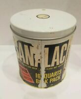 Vintage~Sanalac~ Instant Nonfat Dry Milk~Decorated canister~5lb Container Tin
