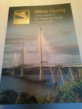 Queensferry Crossing Official Opening Programme Hm Queen Elizabeth 2017 Mint