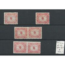 Suriname  58/59, 58a/59a Keerdrukken  MH/ongebr  CV 400 €