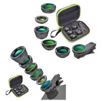 Apexel 6Pcs Smartphone Photo Lens Fish Eye Wide Angle Macro Tele Cpl Star Filter