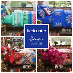 BOHEMIAN QUILT DUVET COVER BEDDING SET TWIN FULL QUEEN KING POLYCOTTON 200TC NEW