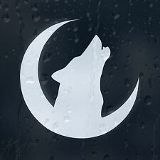 Howlin' Wolf en la Luna Crescent coche decal Vinilo Adhesivo Para Parachoques Ventana