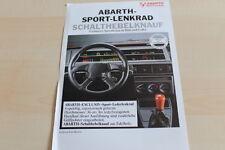 143702) Fiat - Abarth Sportlenkräder - Prospekt 198?