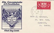 IRELAND 1939 U.S. CONSTITUTION 2D ON ILLUSTRATED FIRST DAY COVER