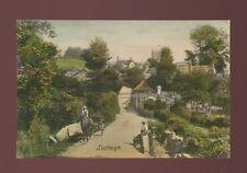 Devon LUSTLEIGH Village scene & locals Used 1911 PPC by Frith