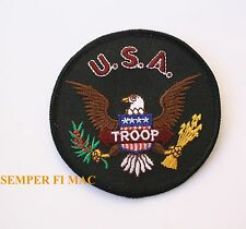 UNITED STATES of AMERICA TROOP COLLECTOR PATCH USA USMC USN USAF USCG ARMY LOGO