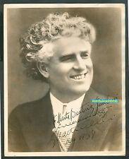 GIOVANNI MARTINELLI ITALIAN  TENOR  RARE  SIGNED PHOTO 1938  8 x 10