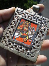 Rare HUGE Silver Coptic Cross Icone 120 g from Ethiopia
